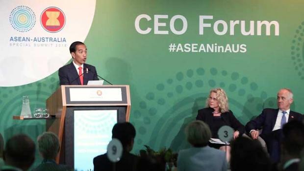 Jokowi dalam Forum Asean Australia