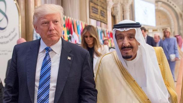 Raja Salman dan Presiden Trump