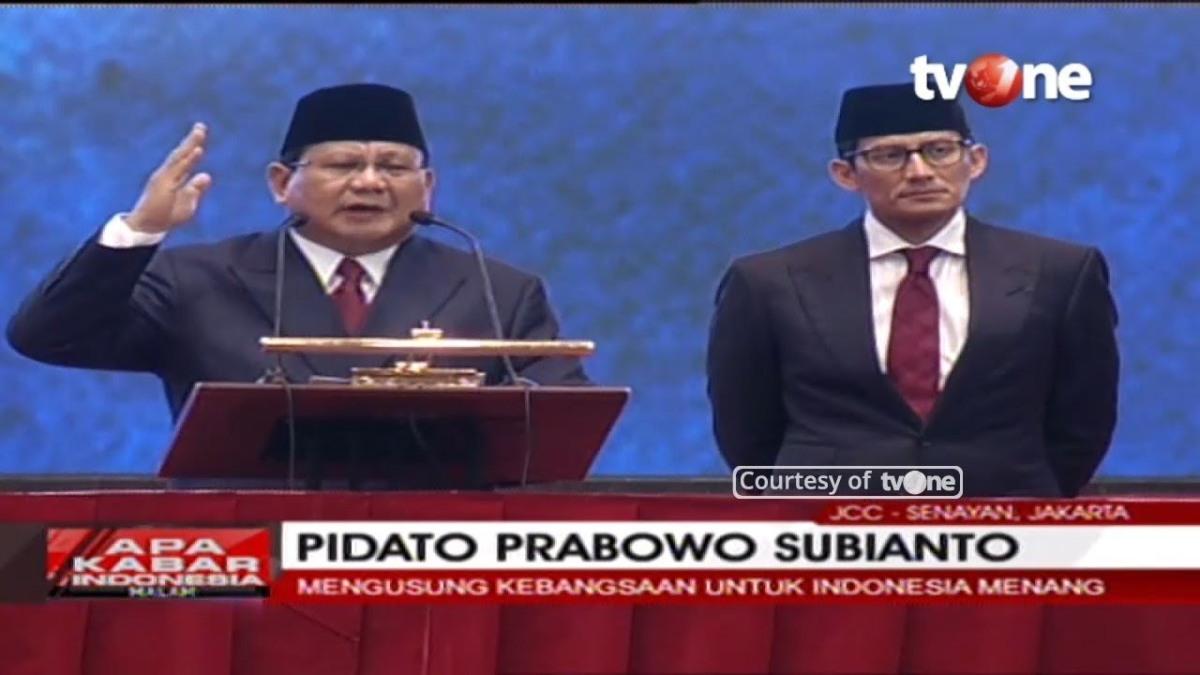 Prabowo: Jangan Terbawa Emosi, Pak Jokowi Banyak Hasil untuk Kita